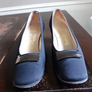 Salvatore Ferragamo fabric high heels